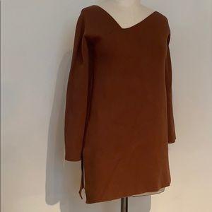 Zara asymmetrical tunic sweater size S